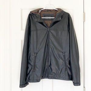 ZARA MAN jacket size large black faux leather